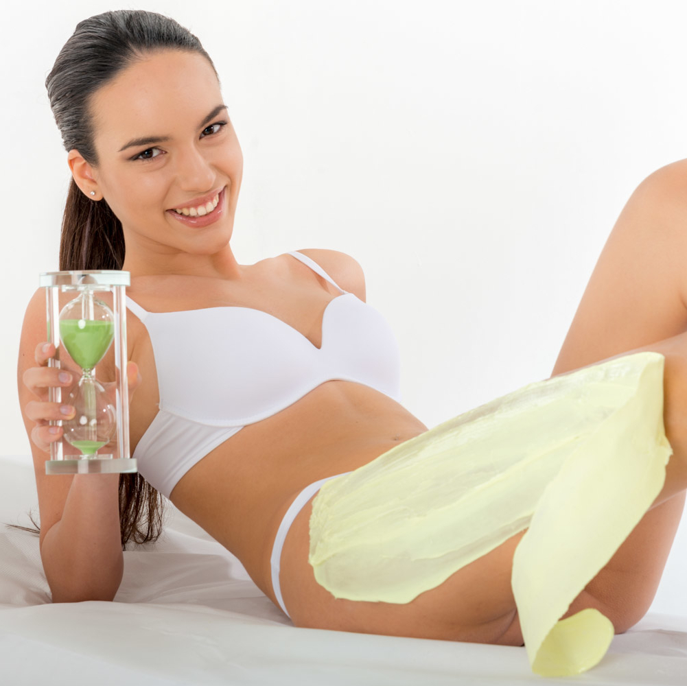 SKIN'S 5 zandloper en vrouw soft op lichaam wax